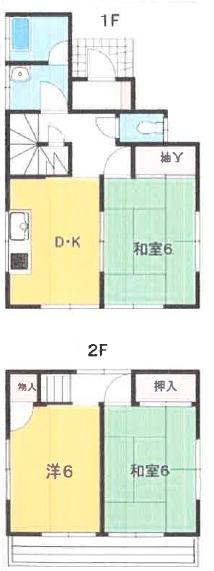 庭付宮和田E邸戸建・1号室の間取り