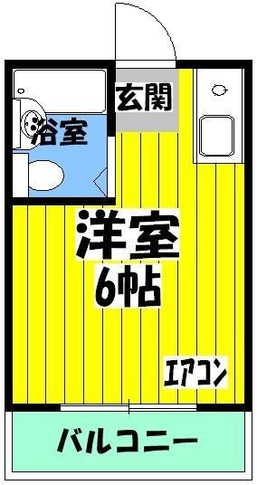 メゾン岸和田・305号室の間取り