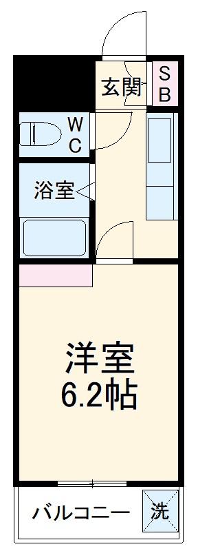 第25長栄壬生H・Tマンション 209号室の間取り