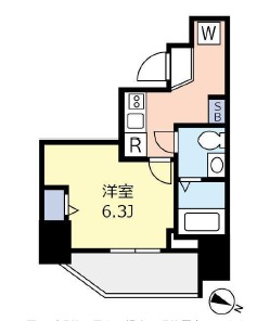 ランヴィ文京千駄木・203号室の間取り