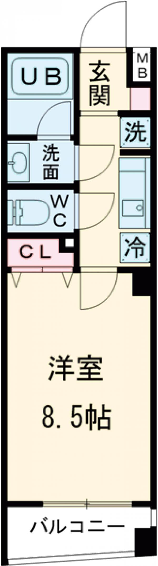 HY's stage 西荻窪・202号室の間取り
