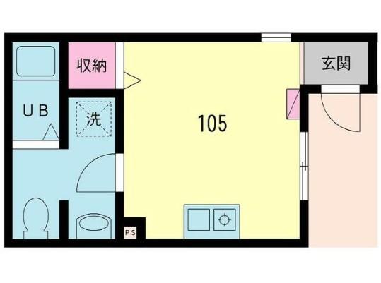 mitia terrace三郷・105号室の間取り