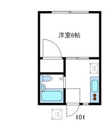 野川コーポ・101号室の間取り