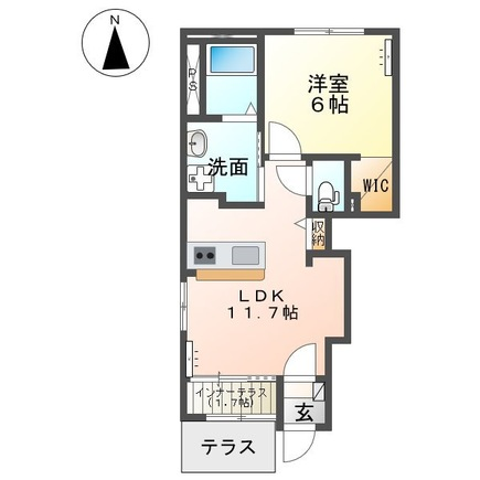 仮)足利市堀込町新築アパート 102号室の間取り