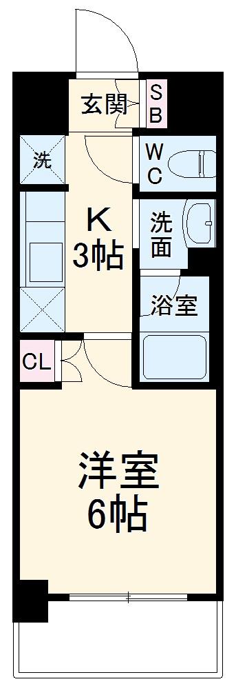 ハーモニーレジデンス武蔵小杉・431号室の間取り