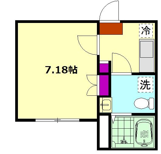 アドヴァンスTT 2号館 302号室の間取り