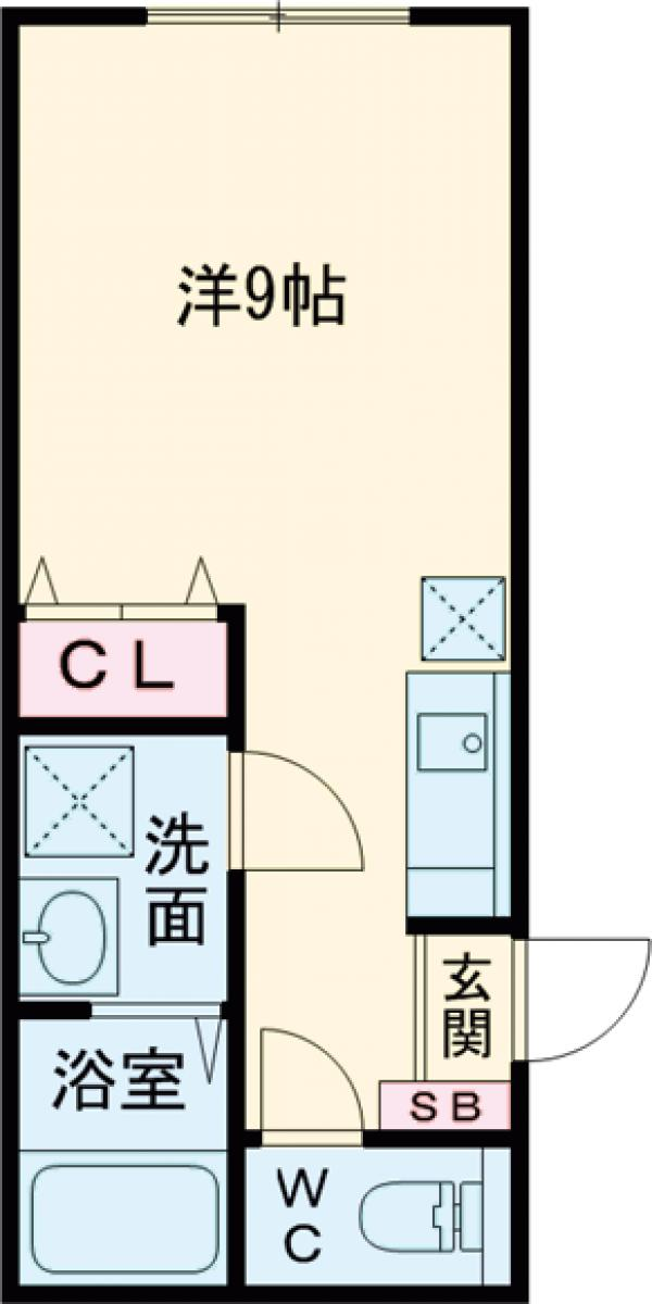 パークFLATS桜川・303号室の間取り