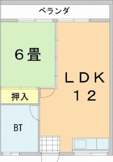 當間アパート・303号室の間取り