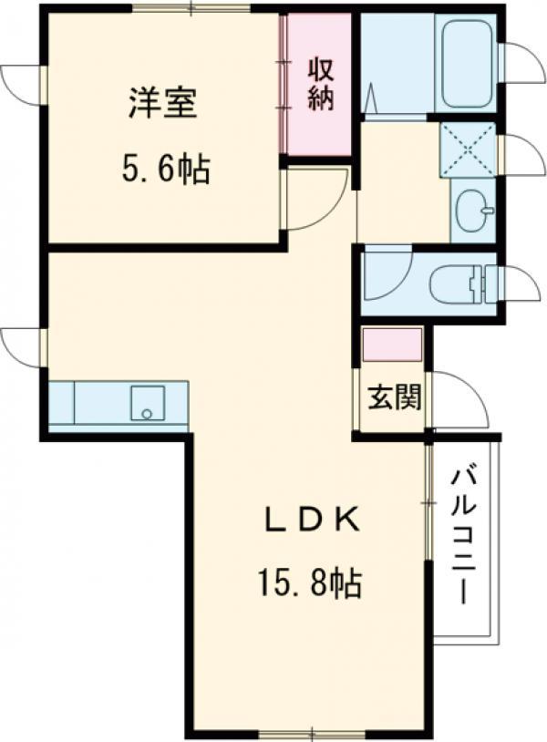 仮)三宿新築工事・2F号室の間取り