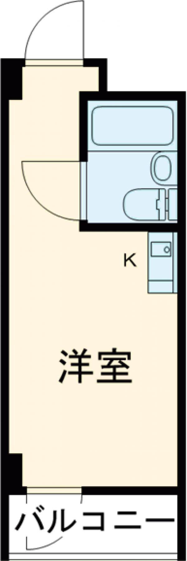 トップルーム品川・515号室の間取り