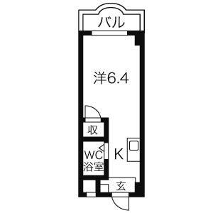 クレールショーワIII・3H号室の間取り