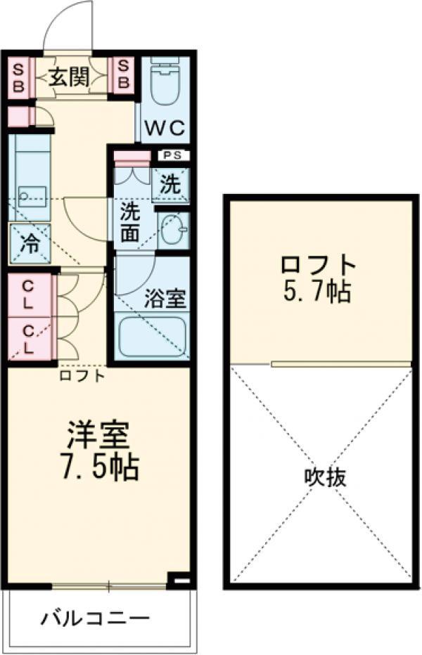 ブライズ世田谷桜・105号室の間取り