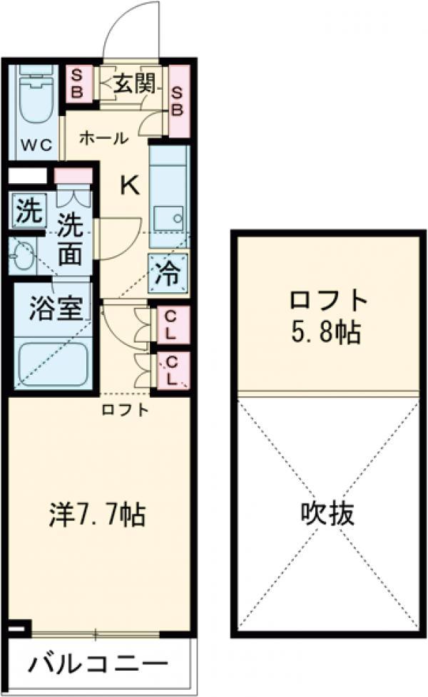 ブライズ世田谷桜・108号室の間取り