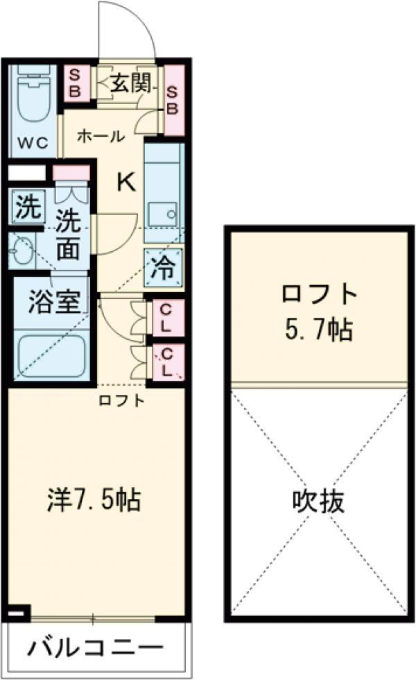 ブライズ世田谷桜・111号室の間取り