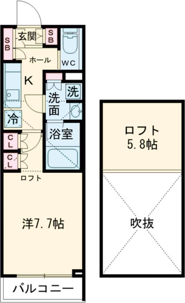 ブライズ世田谷桜・112号室の間取り