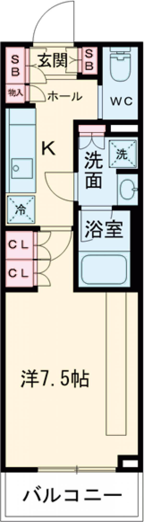 ブライズ世田谷桜・206号室の間取り