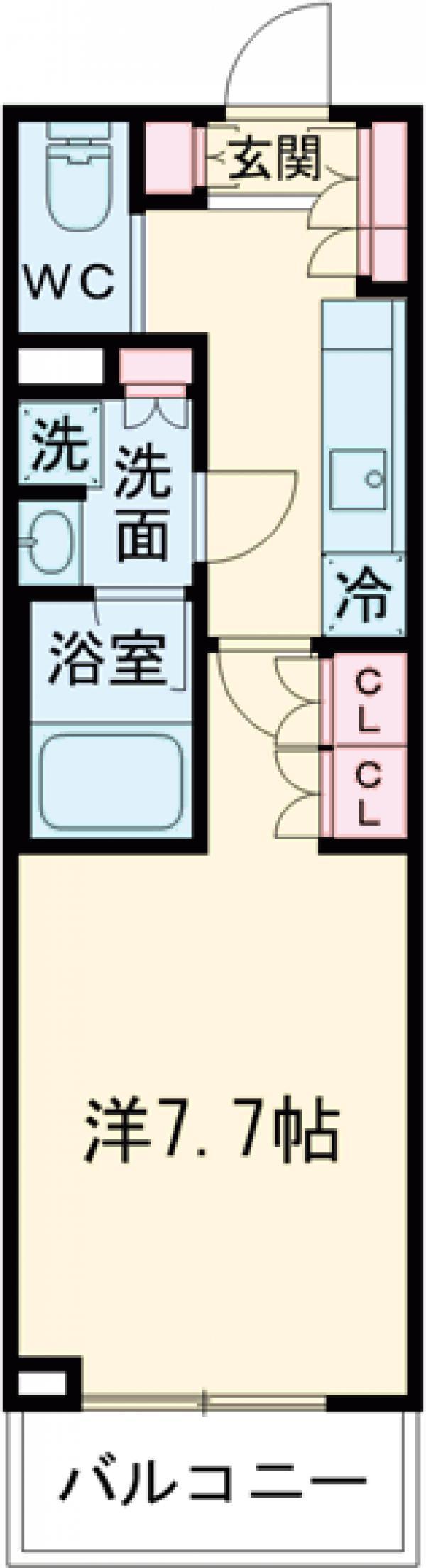 ブライズ世田谷桜・214号室の間取り