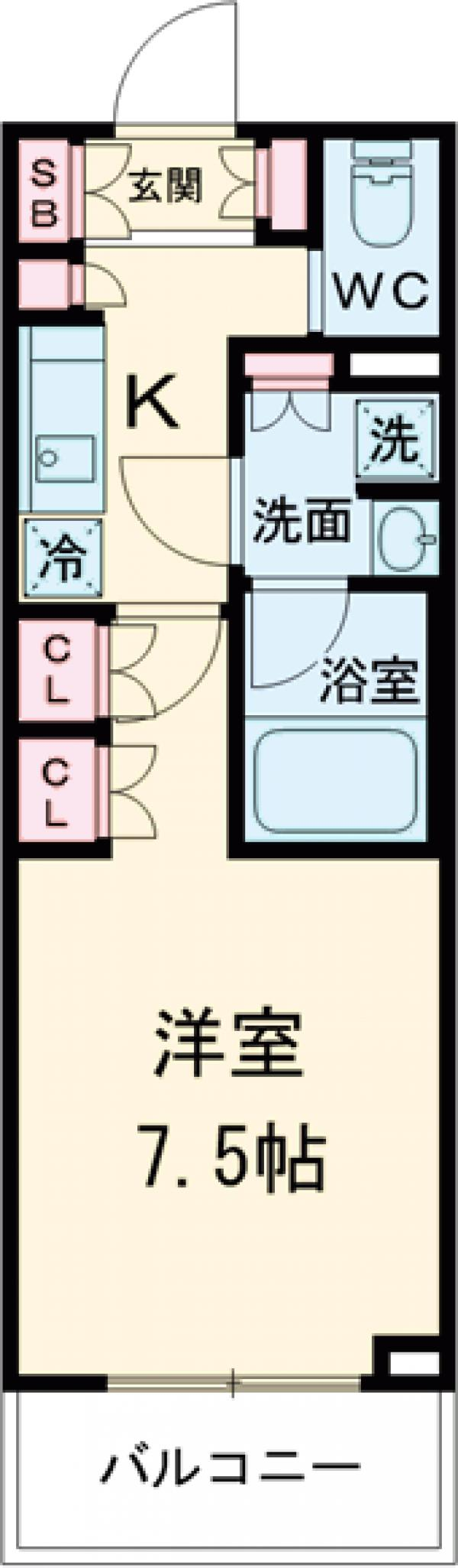 ブライズ世田谷桜・306号室の間取り