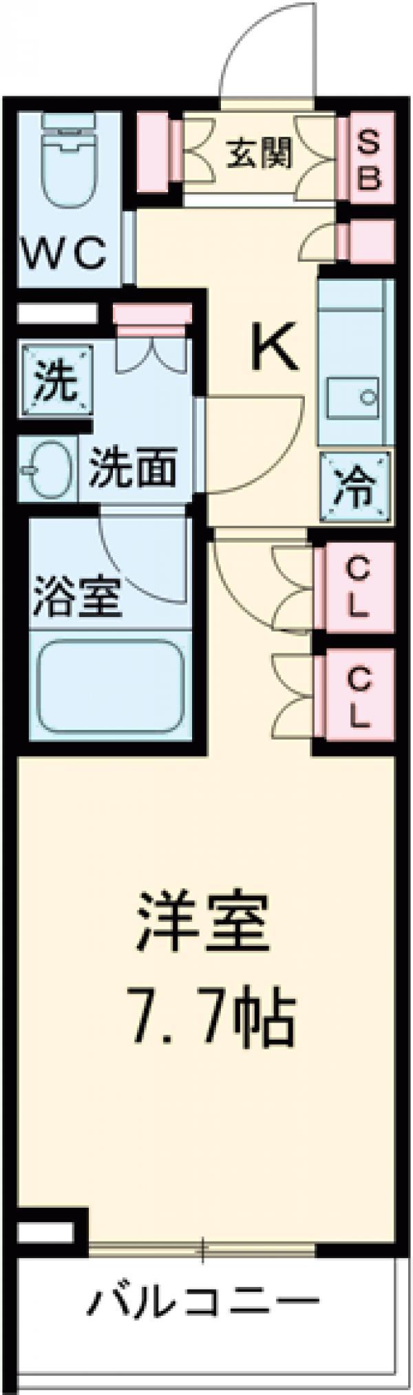 ブライズ世田谷桜・308号室の間取り