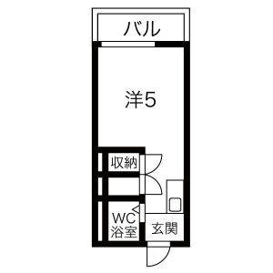 プチマンション江南・302号室の間取り