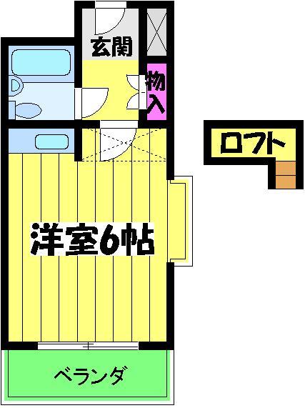 ハイデ野田・0307号室の間取り