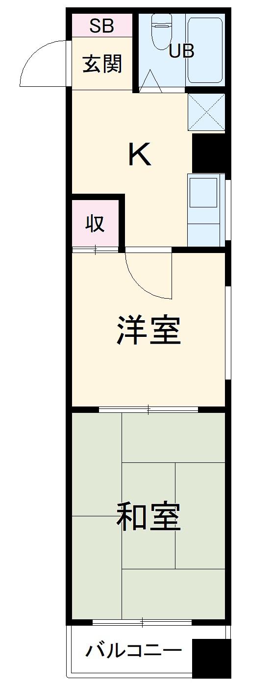 プレアール南福岡Ⅱ・401号室の間取り