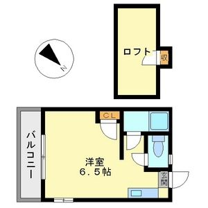 プランドゥ五条B棟・101号室の間取り
