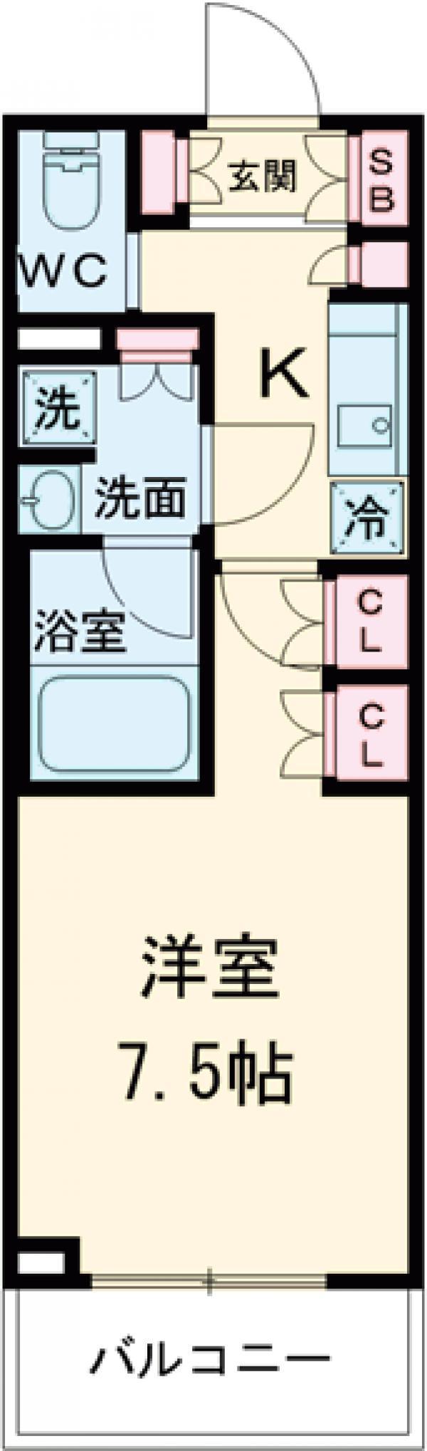 ブライズ世田谷桜・311号室の間取り