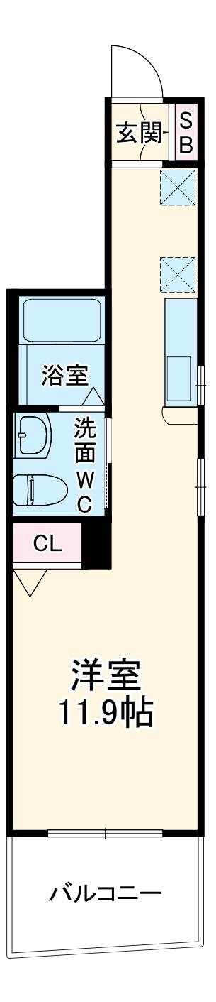 エントピアヤダⅡ・203号室の間取り