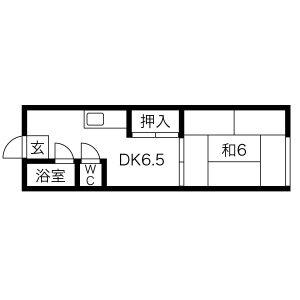 新栄荘・B5号室の間取り