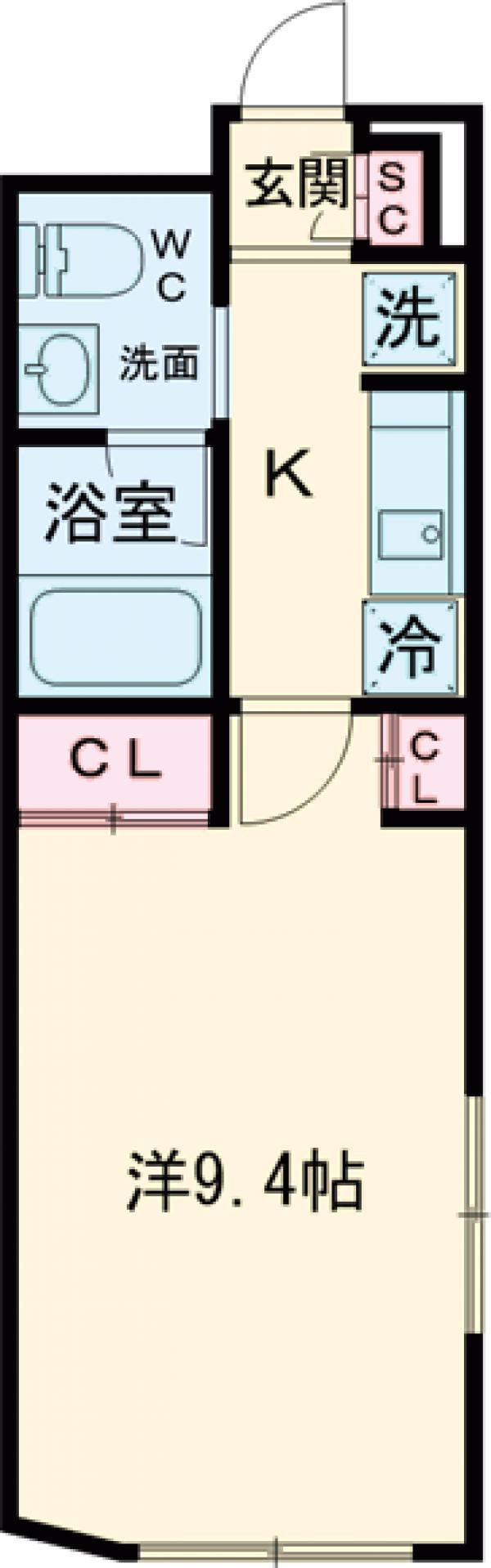 LiveFlat文京大塚WEST・102号室の間取り