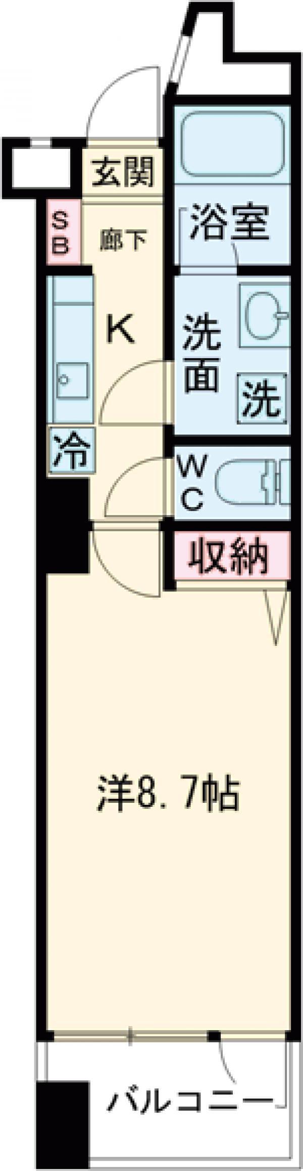 ラ・トルチュ武蔵野・402号室の間取り