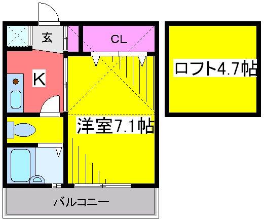 ハウスデュアル瑞江Ⅱ 202号室の間取り