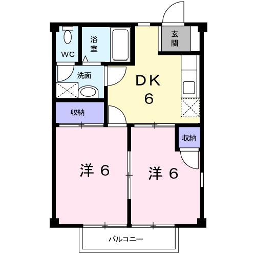 メゾンド・櫻・02010号室の間取り