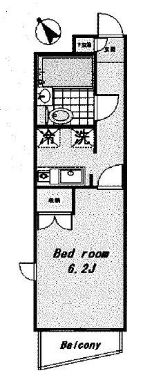 パークサイドコート桜川・201号室の間取り