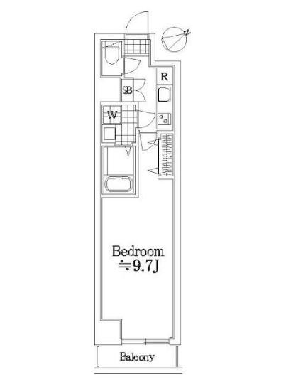 グランヴァン東中野Ⅲ・205号室の間取り
