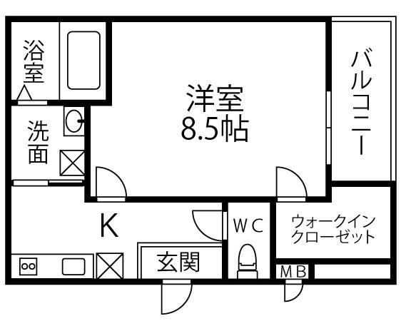 仮称 フジパレス千代田5丁目・201号室の間取り
