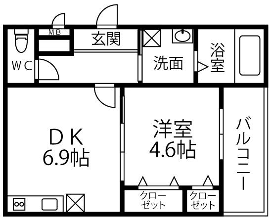 仮称 フジパレス千代田5丁目・205号室の間取り
