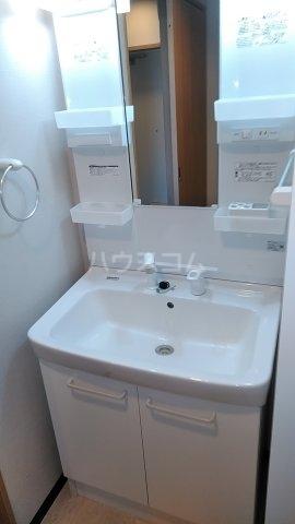 Dーポワール 203号室の洗面所