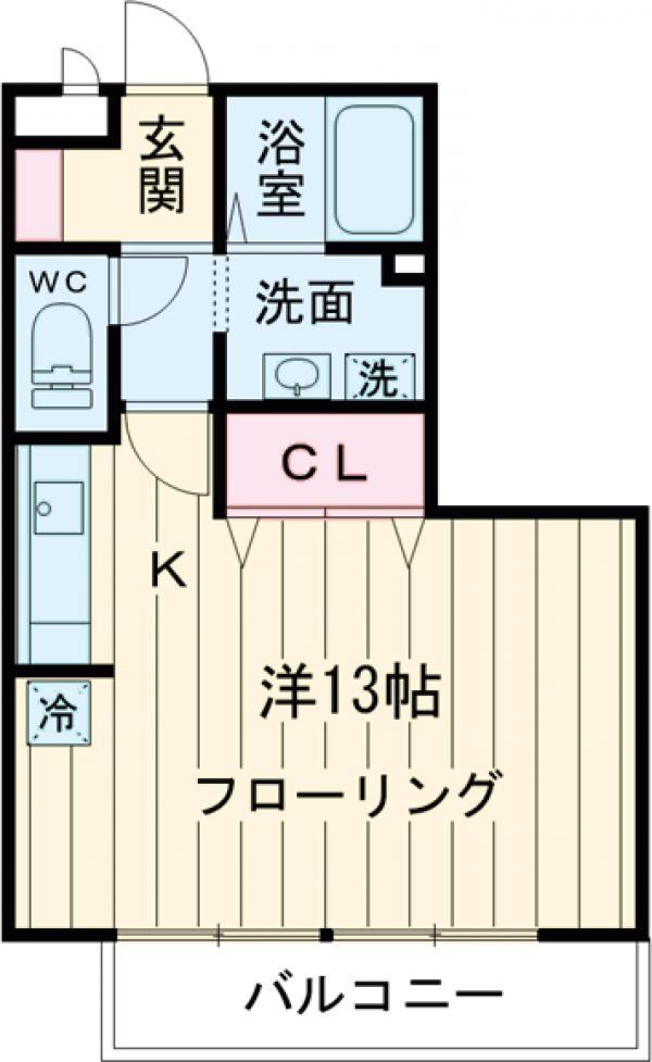 セジュール井草 I・II・1202号室の間取り