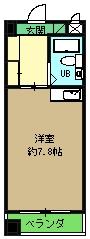 Komodokasa Miwa 401号室の間取り