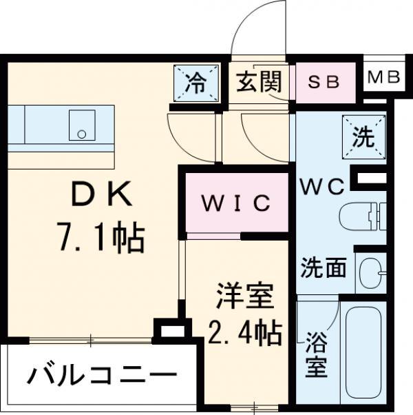 ARKMARK経堂アジールコート・203号室の間取り