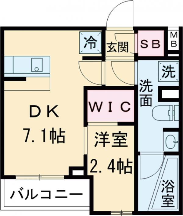 ARKMARK経堂アジールコート・205号室の間取り
