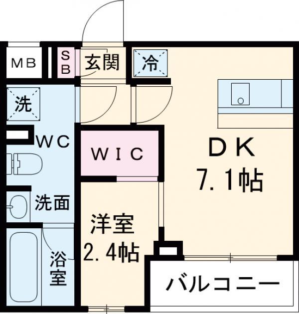 ARKMARK経堂アジールコート・301号室の間取り