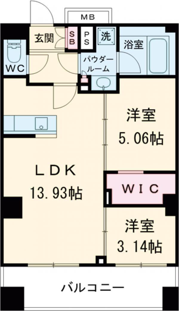コンフォリア西荻窪・1006号室の間取り