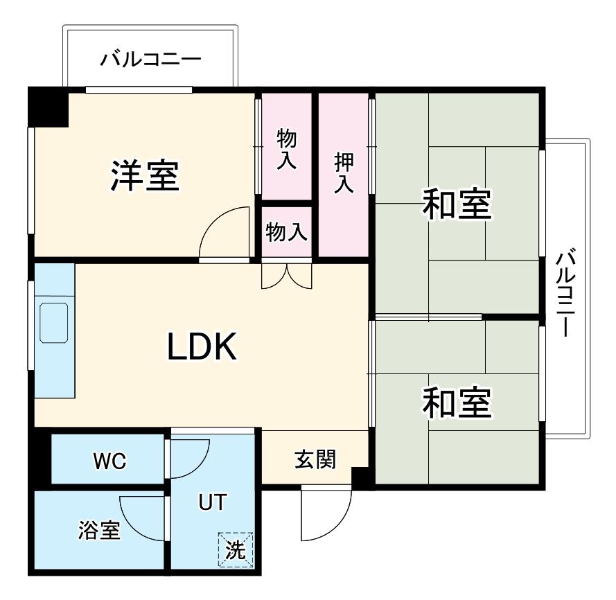 三浦マンション33・311号室の間取り