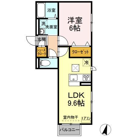 仮)D-roomよしわら B 102号室の間取り