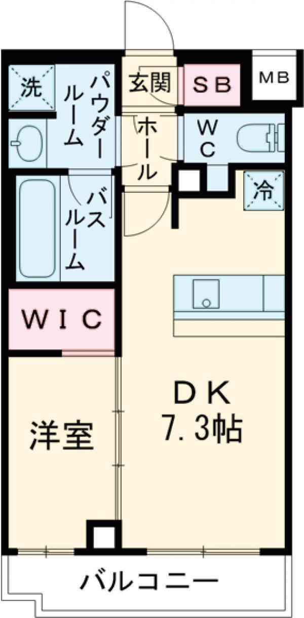 ARKMARK経堂アジールコート・313号室の間取り