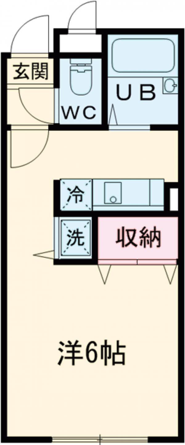 MODULOR武蔵野中町・106号室の間取り
