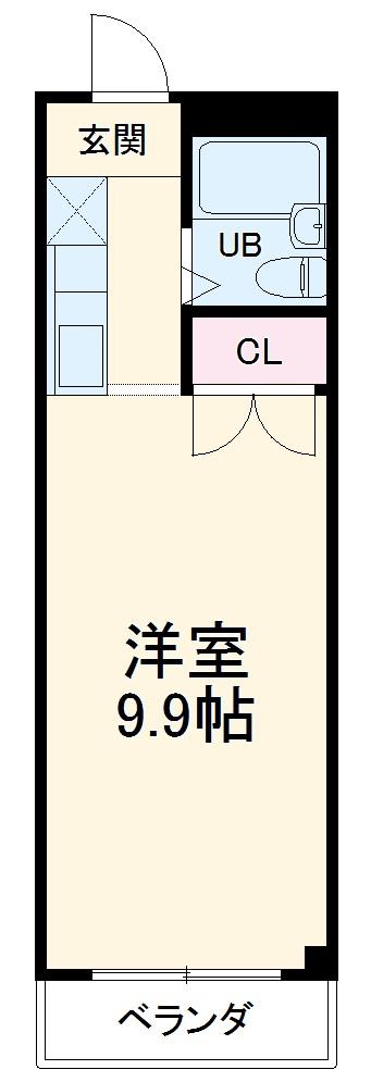 芳伊第2ビル・406号室の間取り